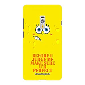 HomeSoGood Do Not Judge Me Yellow 3D Mobile Case For OnePlus 2 (Back Cover)