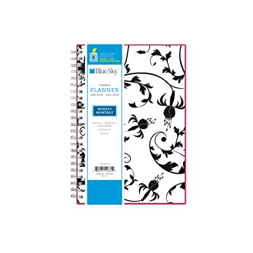 "Blue Sky 2019 Weekly & Monthly Planner, Flexible Cover, Twin-Wire Binding, 5"" x 8"", Analeis -  Blue Sky the Color of Imagination, LLC, 110881.0"