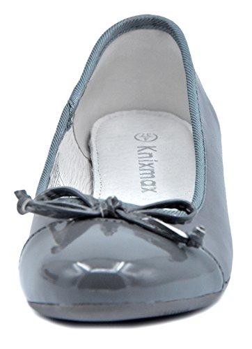 Superficiale Ballerine Flat Scarpe Casual Donna Elegante Grigio Bocca Knixmax w4q7I1P1