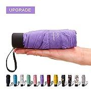 NOOFORMER Automatic Inverted Folding Umbrella – Compact Lightweight Windproof Travel Reverse Car Umbrellas for Men Women…