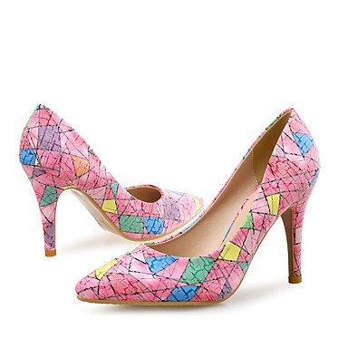 Talones de las mujeres Otro boda Zapatos club de cuero y vestido de noche del partido del tacón de aguja Otros Azul Rosa Blanco Blue