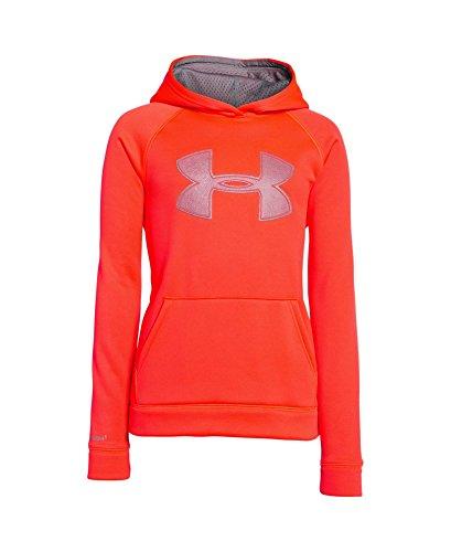 UPC 888376630904, Under Armour Youth Boys' Fleece Storm Big Logo Hoody, Bolt Orange/Graphite, Medium
