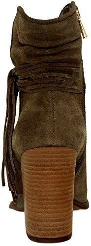 Jessica Simpson Womens Sesley Suede Olive Taupe Ankle-High Boot - 8.5M BcMiBs