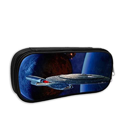 Star Trek Pencil Bag Toiletry BagStorage Pencil Case Pencil Holder Zipper Bag Cosmetic Makeup Pouch 8 X 3.5 X 2 Inch Black