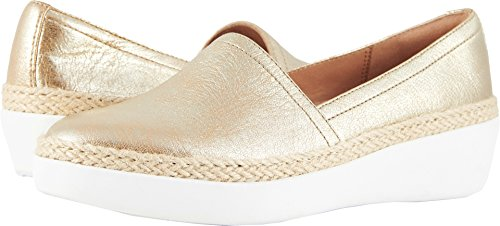 FitFlop Women's CASA Loafers Metallic Gold 9 M US by FitFlop