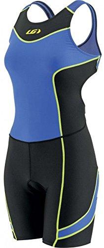 Louis Garneau Women's Comp Open-Back Tri Suit - Black/Blue (Medium) ()