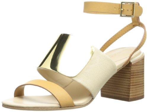 See By Chloe Women's 22041 Dress Sandal,Tan/Gold,38 EU/8 M US