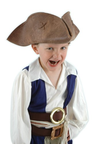 Elope Jack Sparrow Hat-Brown, Kid Size (Crazy Costumes For Kids)