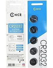 CR2032 Münzen Batterien Lithium Lebensdauer Kein Auslaufen Knopfbatterie 3V (5 Stück CR2032)