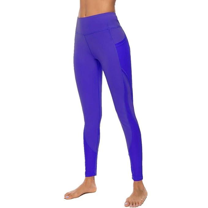 SXZG Nuevos Pantalones De Yoga De Color Sólido para Mujer ...