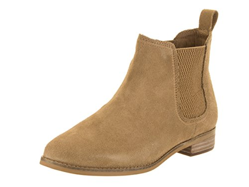 TOMS Women's Ella Booties Toffee Suede 10