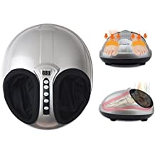 Angel Shiatsu + Air Pressure Kneading and Rolling Foot Massager Machine with Airbag Pressure & Heat & Timer Pain-Relief