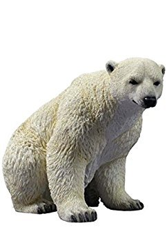 8.75 Inch Animal Figurine Sitting Polar Bear Collectible -