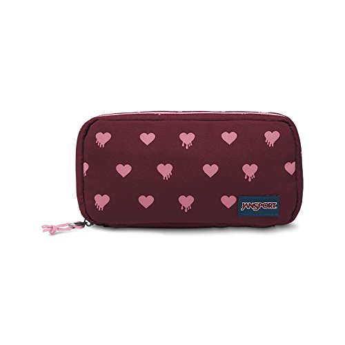 JanSport Pixel Pouch - Russet Red Bleeding Hearts