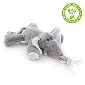 Chupete con elefante babyhuggle chupeta con peluche para - Felpa porta bebe decathlon ...