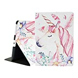 iPad 2/3/4 Case - Mictchz Lightweight Slim Tri-Fold Smart Stand Cover Protector Supports Auto Wake/Sleep for iPad 4th Generation with Retina Display, iPad 3 & iPad 2 (Unicorn)