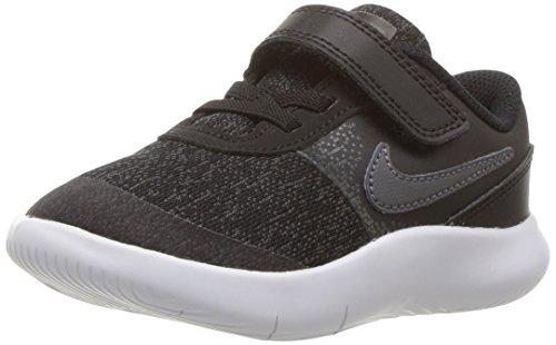 NIKE Toddler Flex Contact (TDV) Black DRK Gry Anthracite White Size 6 (Nike Free Boys Shoes Toddler)