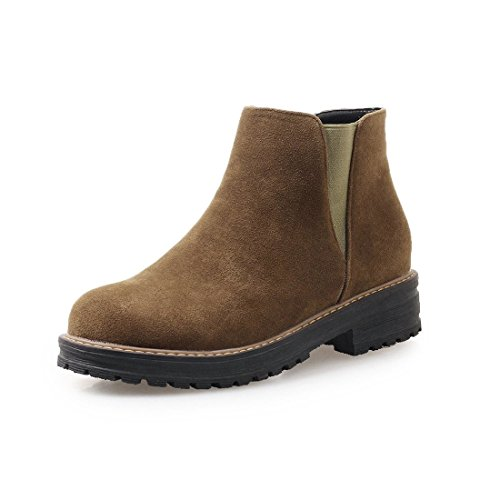 Sandalette-DEDE Botas de Invierno de otoño Khaki