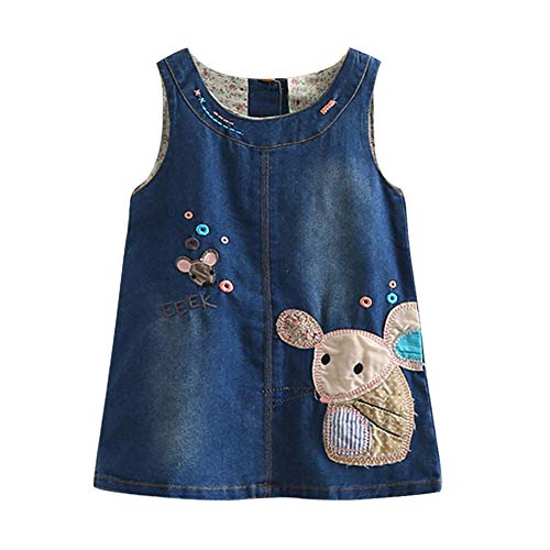 823e5e5e553 Mud Kingdom Little Girls  Denim Cartoon Sundresses