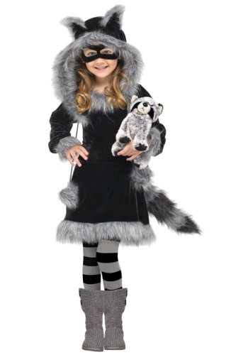 [Little Girls' Sweet Raccoon Costume (X-Small)] (Raccoon Girl Costumes)
