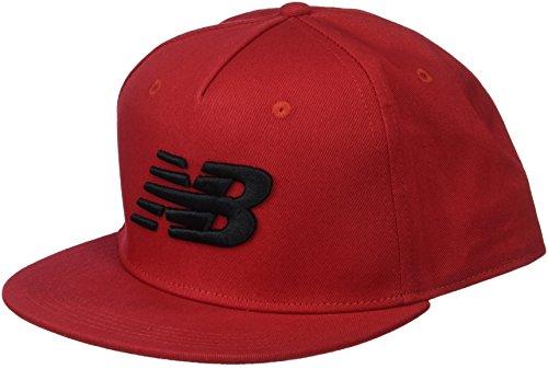 New Balance 5 Panel Pro Ii Logo Cap, One Size, Team Red