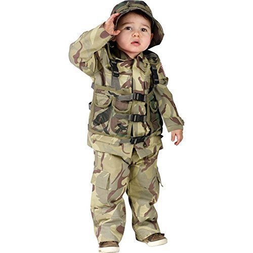 Toddler Camo Army Costumes (Fun World Toddler Kids Army Soldier Outfit Camo Halloween Costume by Costumelicious)