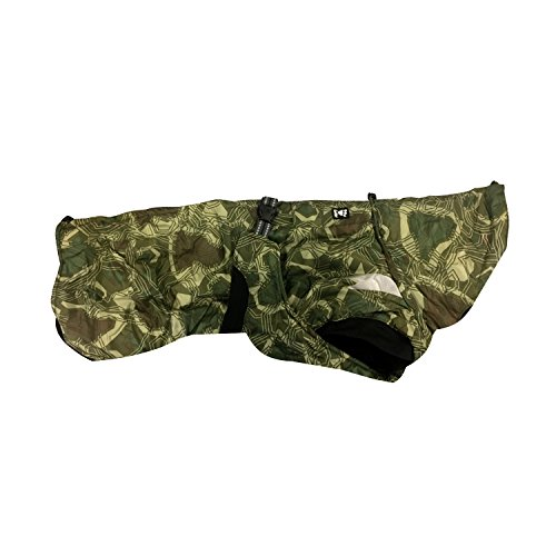 Hurtta Summit Parka Dog Winter Coat, Green Camo, 12 in