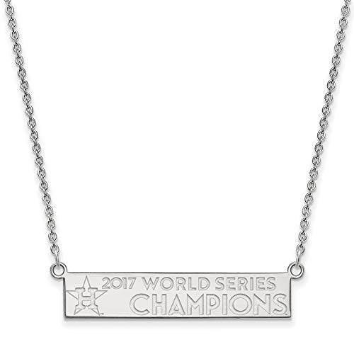 MLB World Series Champions SS 2017 World Series Champions Houston Astros Small Bar Necklace Size One Size