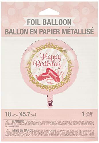 Creative Converting 324440 Twinkle Toes Ballerina Ballet Birthday Foil Balloon, 18