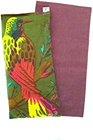 Scented Eye Pillow Gift Set - Washable Cover - Lavender Flax - 4 x 8.5 Cotton - Soothing Relaxing - tropical f