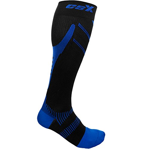 Royal Blue Band Arch - Champion CSX CSX Compression Socks for Men and Women, 15-20 mmHg, 1 pair, Royal Blue on Black, Medium