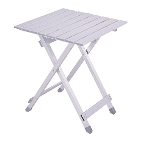 Custpromo Outdoor Portable Camping Table, Folding Picnic Table, Roll Up Aluminum Alloy Ultralight Table Supports 220lbs