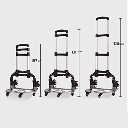 Zehaer Portable Trolley, Small Cart Folding Portable Trolley Home Shopping Cargo Handling Luggage Car-9-9 (Color : D) (Color : A) by Zehaer (Image #4)