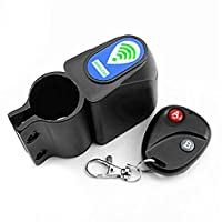 Buwico Télécommande sans fil intelligente Vélo Alarme vélo Sirène Shock Vibration Capteur Verrouillage de vélo Anti-vol Garde alarme anti-vol