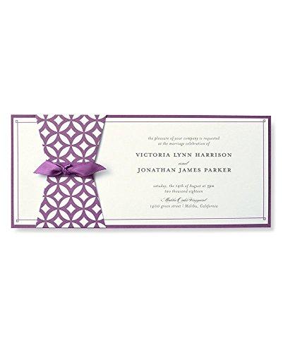 (BRIDES Geometric Purple Print at Home Invitation Kit)