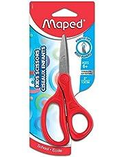 Maped 480210 Essentials Kids Scissors, 5 Inch Blades, Pointed, Ambidextrous Handle