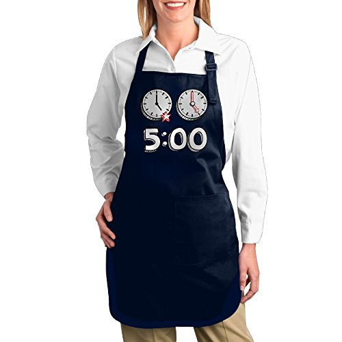 Dogquxio Five O'clock Kitchen Helper Professional Bib Apron With 2 Pockets For Women Men Adults Navy - Film Costume Designers London