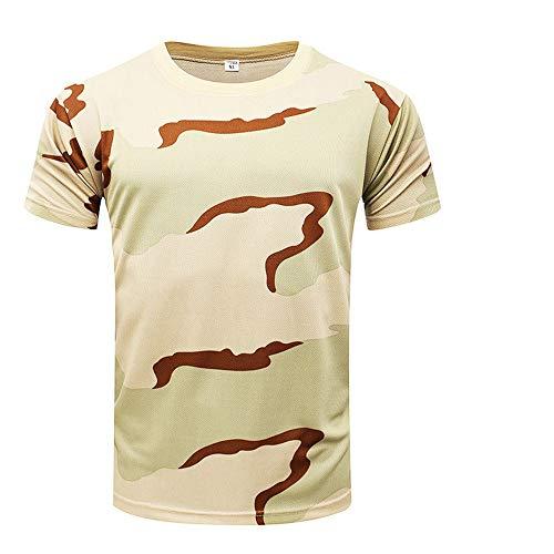 - Outdoor Woodland Hunting Shooting Shirt Battle Dress Uniform Tactical BDU Combat Clothing Quick Dry Camouflage Shirt - 3 Color Desert - XXXL