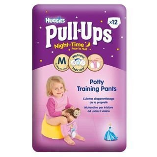 Huggies Medium Night Time Pull-Ups for Girls12 per pack