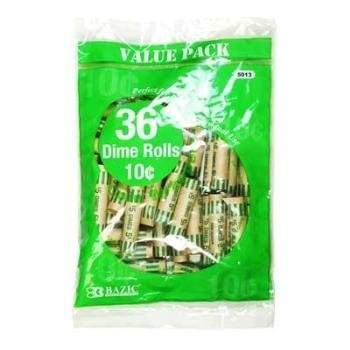 Bazic Dime Coin Wrappers 50 pcs sku# 311604MA