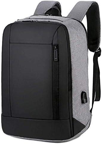 BAJIMI ハイキングバックパック、学生のバックパック、旅行ノートパソコンのバックパック、ビジネス防水バッグUSBポートを充電して、女性の男性のための大学の学校のコンピュータバックパックは、15.6インチのノートブック、グレーに適合します