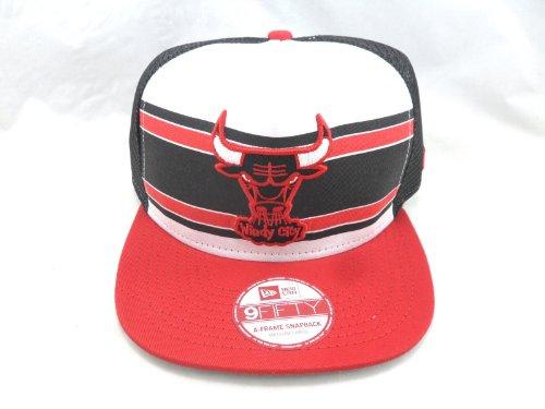 Chicago Bulls Snapback- Red White Black Style: HNE5-Red/White/Black- M Size: M-L