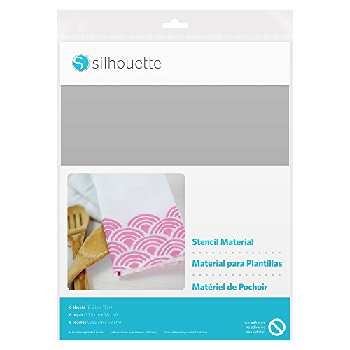 Silhouette Stencil Material Sheets - Non-Adhesive