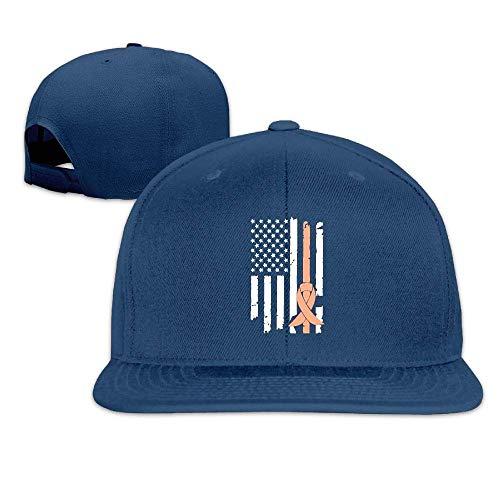 ComfortFT MAGIICAP Adult Trucker Hat, Fashion Uterine Cancer Awareness USA Flag-1 Adjustable Hip Hop Flatbrim Baseball ()