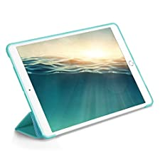Mini 4 iPad Case,Jennyfly Light-Weight Full Body Protective Case with Hands-Free Stand Feature Slim Soft High QualityTPU Leather Smart Cover Compatible with iPad Mini 4 - Skye Blue