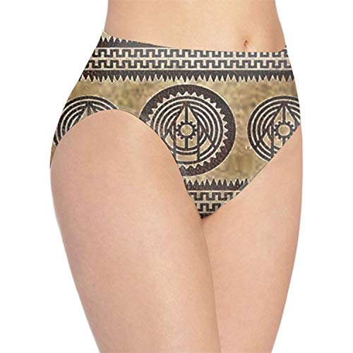 Women's Cotton Underwear Native American Leather Low Rise Briefs Hipster Panties