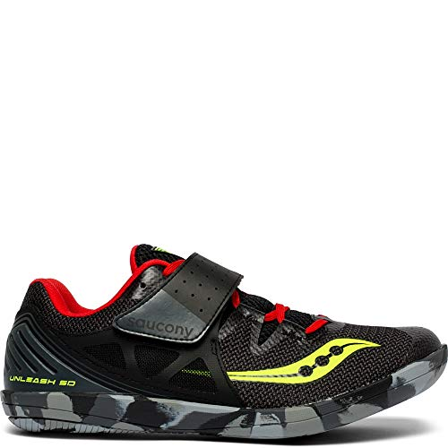 Saucony Men's Unleash SD2 Track and Field Shoe, Black/red, 110 Medium US