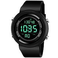 Lamkei NLAM-22 Black Dial Digital Multifunction Watch for Men