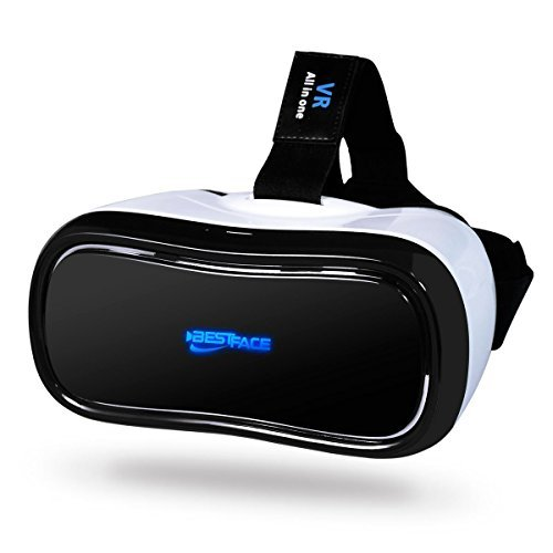 3D VR All in One Virtual Reality Headset WiFi 2.4G Bluetooth 1080P 360 degree Panorama Theater VR Headset Supports TF Card for PC Movie Games Youtube Google Play