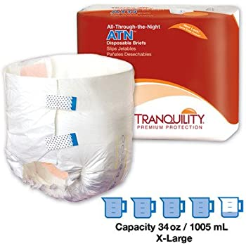 Tranquility ATN (All-Through-The-Night) Overnight Brief, Large, 2186 - Pack of 12